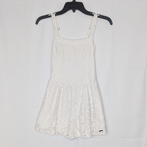EUC Abercrombie & Fitch white lace overlay romper